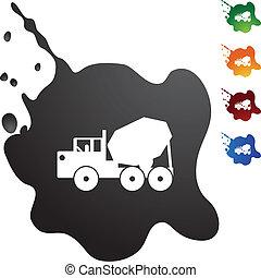 camion, ciment