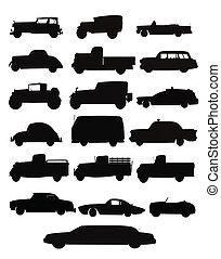 camion, collezione, auto