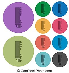 Camion darker flat icons on color round background