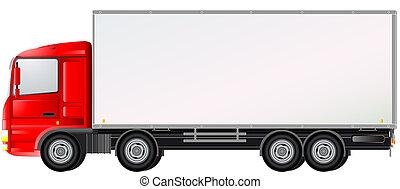 camion consegna, isolato