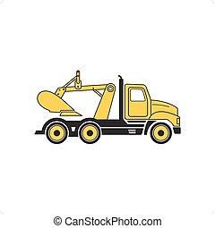 camion, creuser