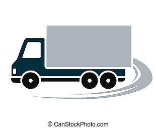 camion, expédition, signe