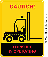 camion, forklift, -, segno