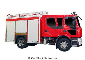 camion fuoco, isolato
