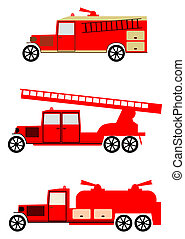 camion fuoco, set