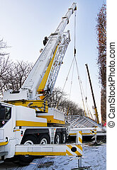 camion, grue