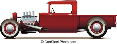 camion, hot-rod