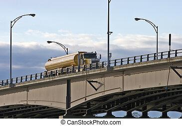 camion huile, pétrolier