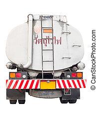 camion, huile, récipient, cargaison