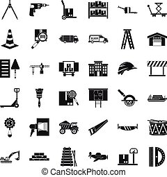 Camion icons set. Simple set of 36 camion vector icons for web isolated on white background