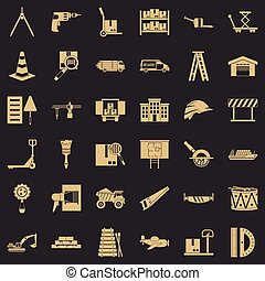 Camion icons set. Simple set of 36 camion vector icons for web for any design