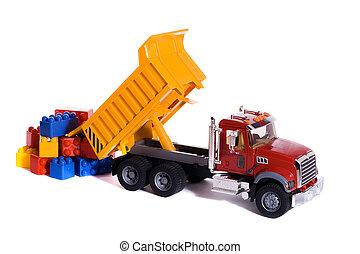 camion jouet, décharge