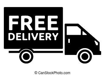 camion livraison, -, gratuite, expédition