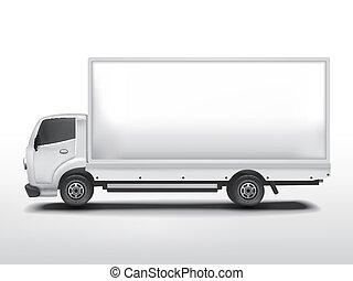 camion livraison, vide