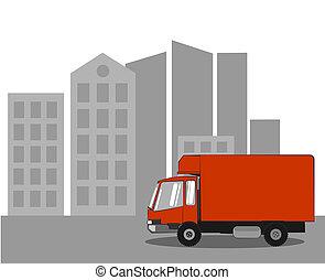 camion livraison, ville