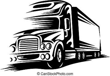 camion mouvement