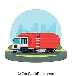 camion navire-citerne, logistique, service