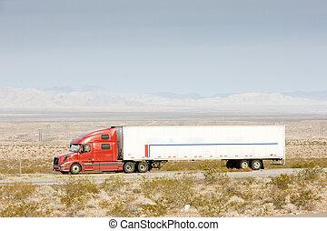 camion, nevada, estados unidos de américa, camino
