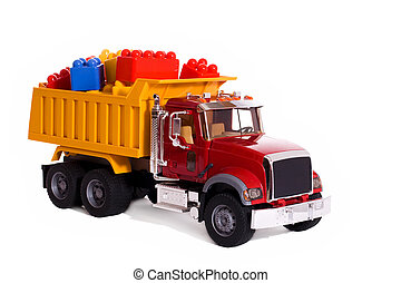 camion, porter, blocs