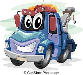 camion, remorquage, mascotte