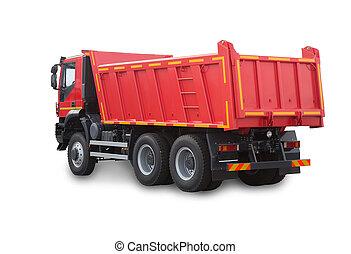 camion rosso, isolato