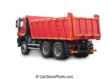 camion rouge, isolé