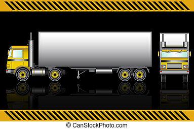 camion, semi