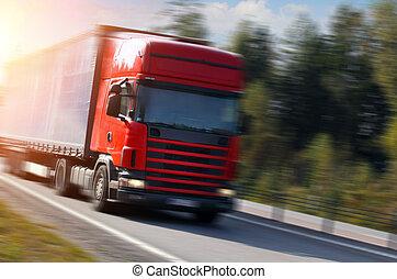 camion, strada