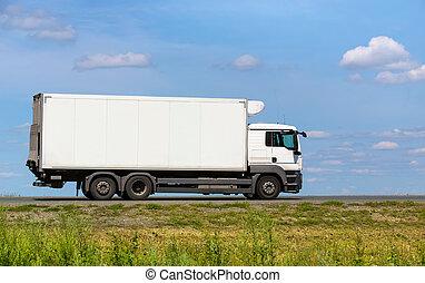 camion, transports, fret, autoroute