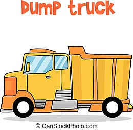 camion, trasporto, discarica, collezione