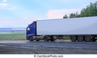 camion, va, autostrada