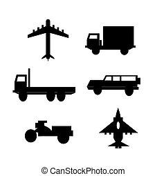 camion, veicolo, dan, aereo, collezione