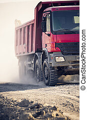 camiones, operar, en, un, mina de carbón