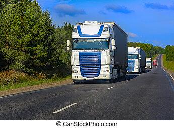Camiones, Va, carretera