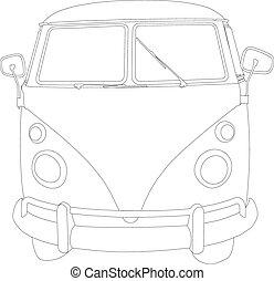 camioneta campista, escarabajo, furgoneta, 01