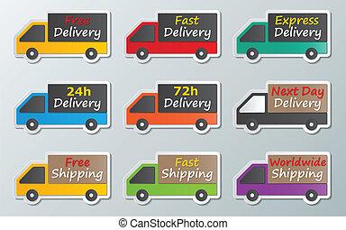 camions livraison, signe