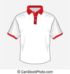 camisa, branca, pólo