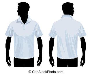 camisa del polo, plantilla