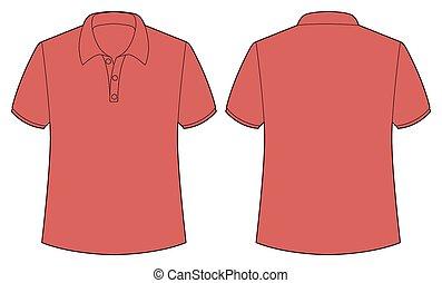 camisa, rojo