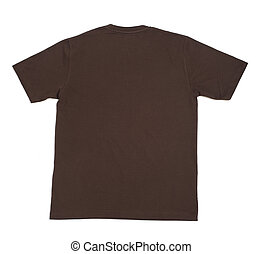 camisa, roupa, t, em branco