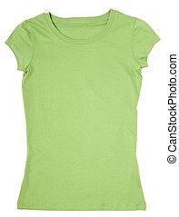 camisa t, roupa, modelo, vestido, desgaste