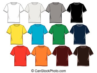 camisa, t, vector, illustration., templates.
