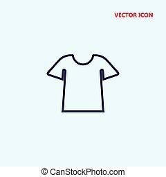 camisa t, vetorial, ícone