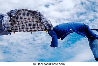 camisas, viento