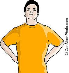 camiseta anaranjada