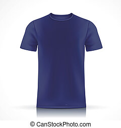 camiseta azul, plantilla