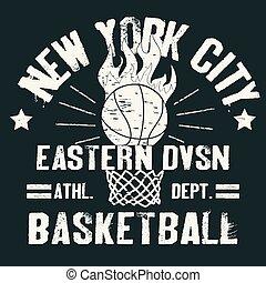 camiseta, baloncesto