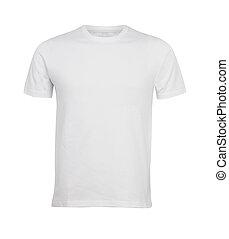 camiseta, blanco
