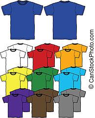 camiseta, contorno