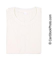 camiseta, doblado, aislado